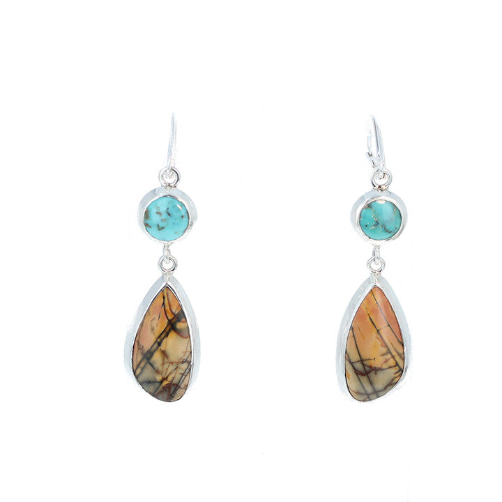SONORA SUNRISE and Fox Turquoise Earrings #3