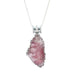 Regal Pink Tourmaline Free Form Sterling Silver Pendant Necklace