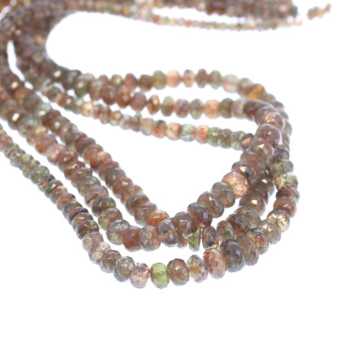 ANDALUSITE BEADS FACETED Rondelles 3.5-7mm 16""