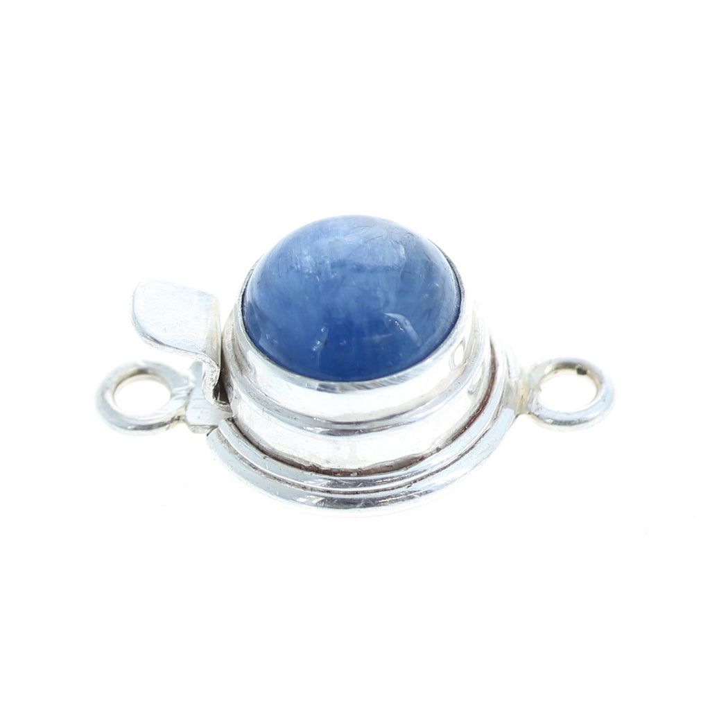 KYANITE CLASP Sterling Silver 10mm Round