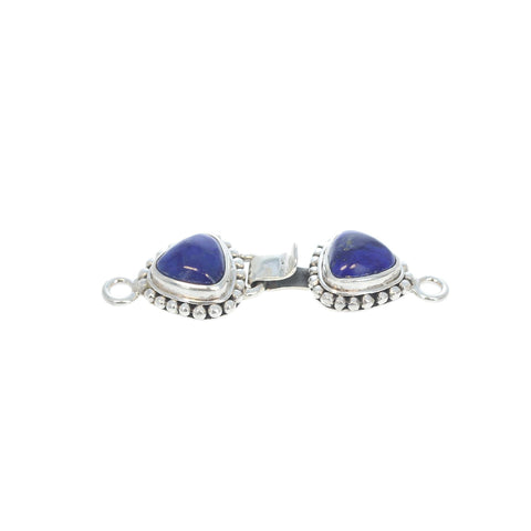 Lapis Clasp Hook and Eye Design 2 Stone