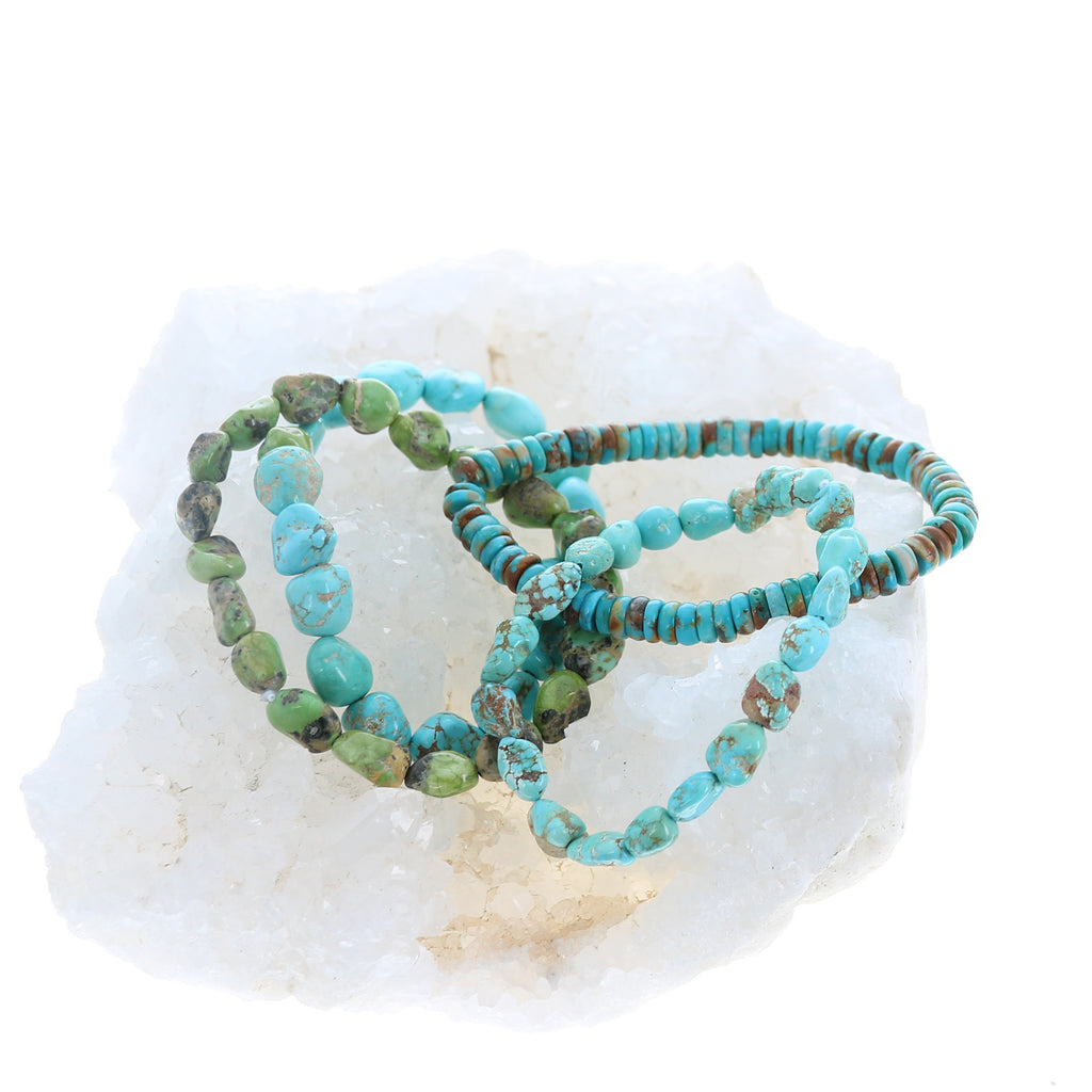 Sonoran Green Turquoise Bracelet Stretch Elastic 10mm