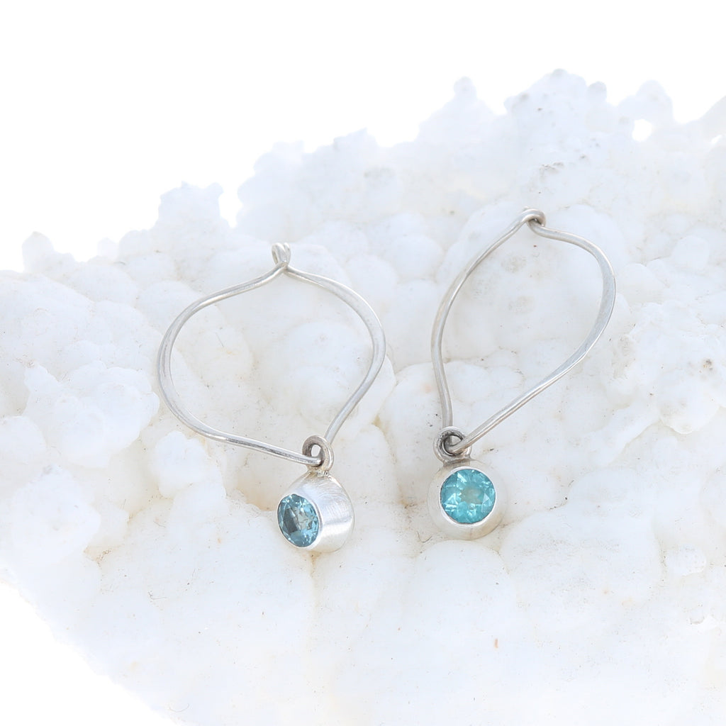 Ethereal Blue APATITE FACETED Earrings Sterling Lotus
