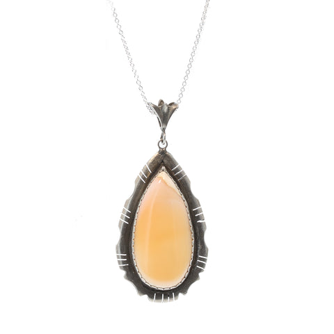 Large SPINY OYSTER  PENDANT Teardrop Sterling Southwest Style