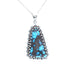 EGYPTIAN TURQUOISE PENDANT Large Bright Blue Sterling