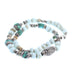 TIBETAN TURQUOISE NECKLACE with PEKING GLASS BEADS STERLING 15.75""