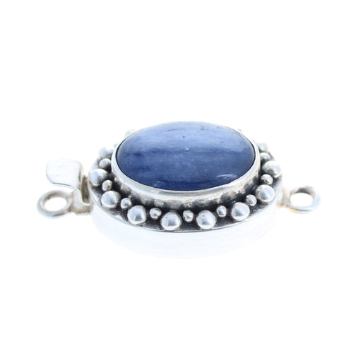 Kyanite Clasp Sterling Oval Shape Dot Design