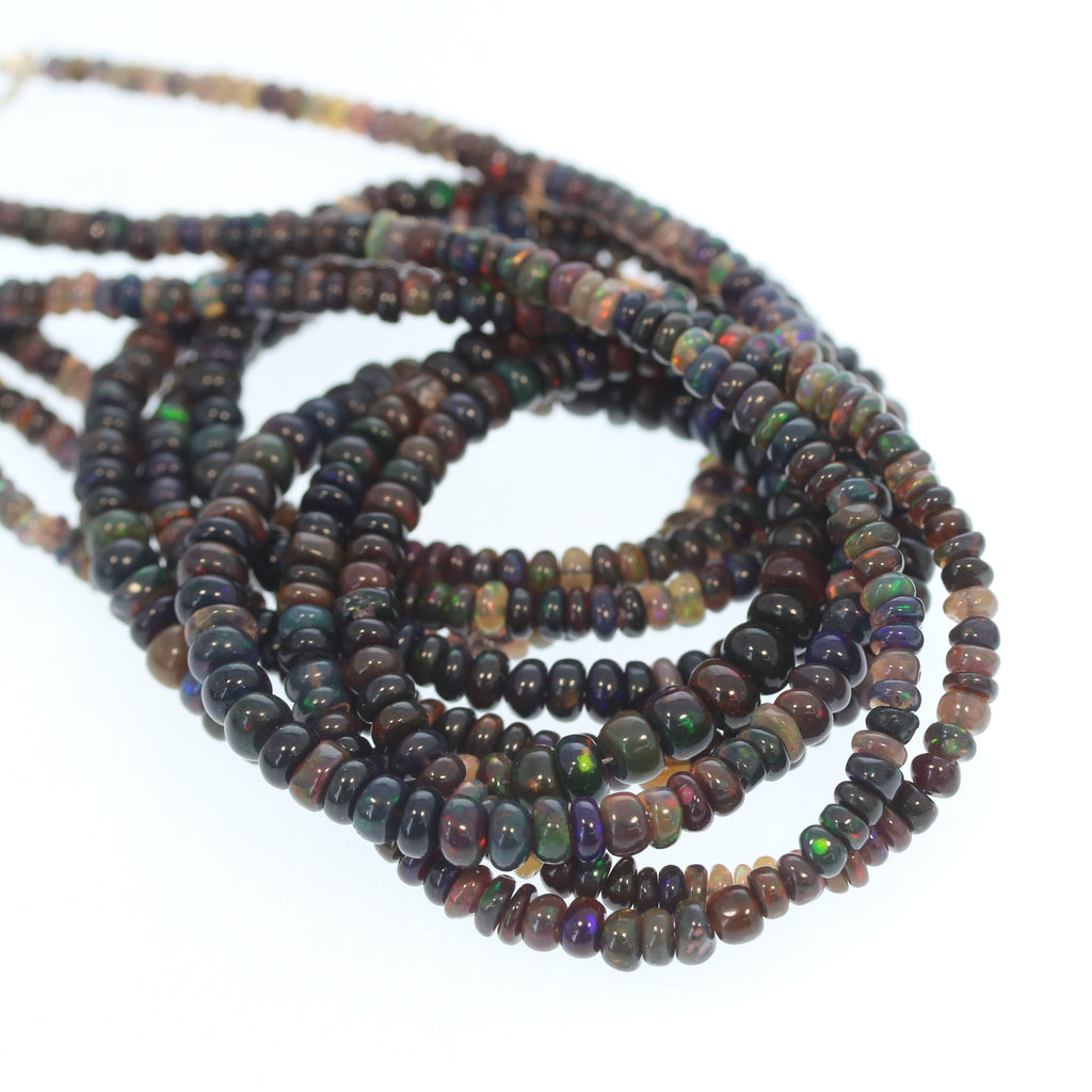 ETHIOPIAN OPAL Beads Chocolate Brown Multi 2.5-3.5mm Necklace Beads