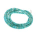 CARICO LAKE TURQUOISE BEADS BLUE BUTTON
