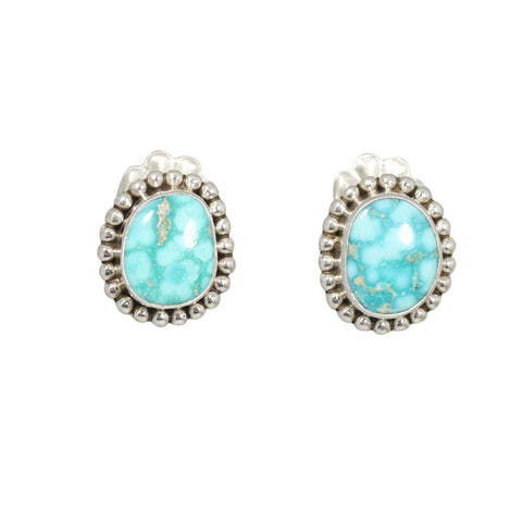 WHITE WATER {Mexican} TURQUOISE Earrings Post Style #1