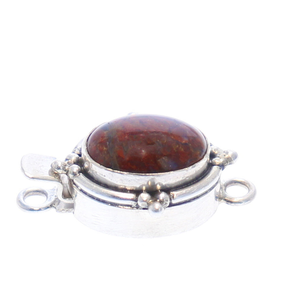 RED PIETERSITE CLASP Southwest Dot Design 14x11mm
