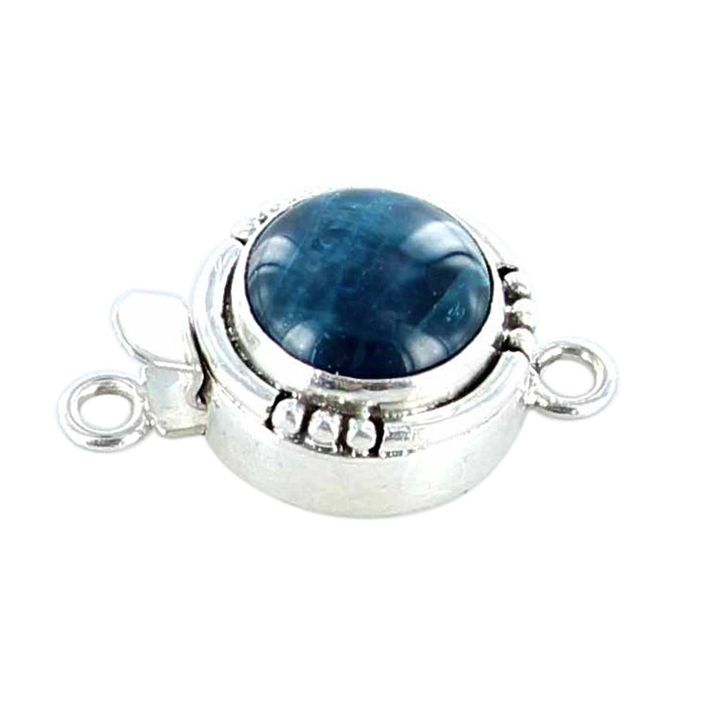 Apatite Clasp Sterling Round 12mm CatsEye