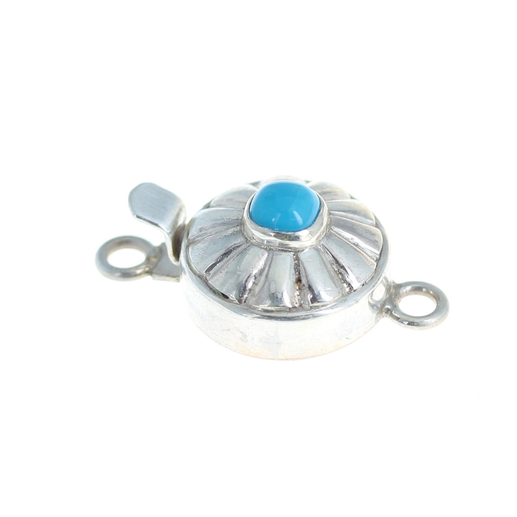 Sleeping Beauty Turquoise Clasp Southwestern Button Design 6mm