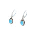 SLEEPING BEAUTY TURQUOISE Earrings Decorative Oval Sterling