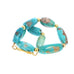 18K GOLD ARMENIAN TURQUOISE BARREL BEADS BRACELET