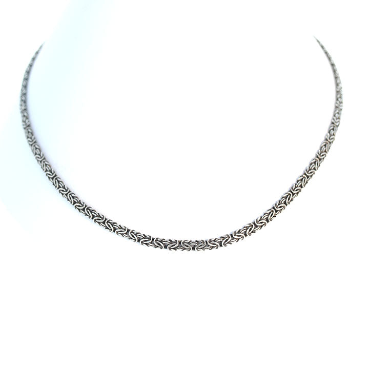 Sterling Silver Byzantine Chain Oxidized