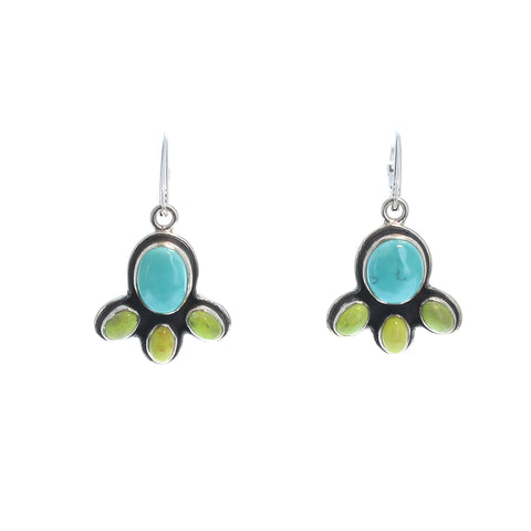 BLUE MOON TURQUOISE Earrings with Gaspeite Sterling