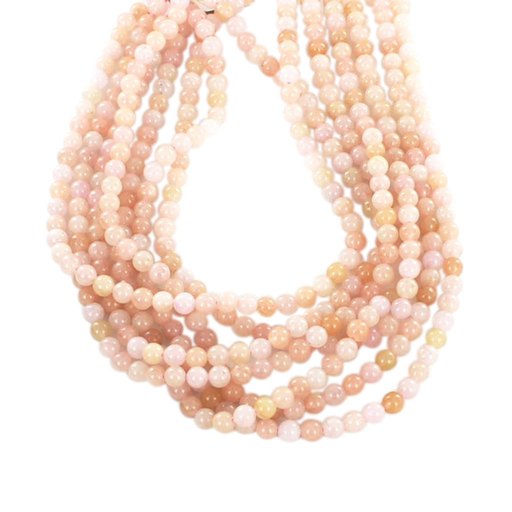 PINK MORGANITE 6mm ROUND BEADS 16""