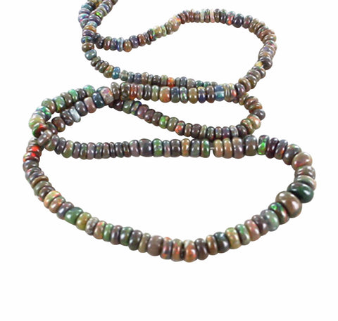 ETHIOPIAN OPAL Beads Chocolate Brown Multi 3-5.5mm - New World Gems - 1