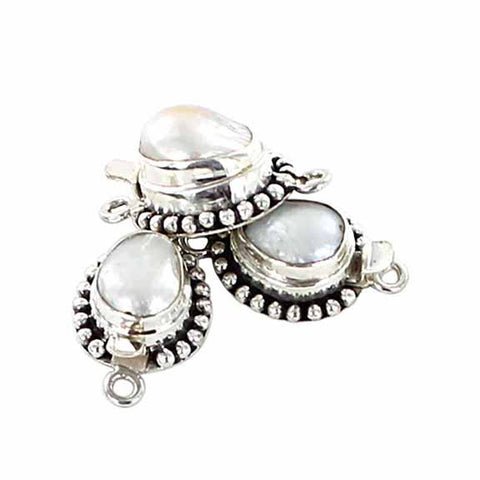 Free Form Pearl Clasp Cream 10-11mm - New World Gems