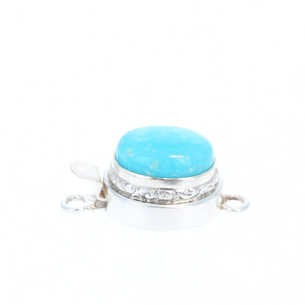 Smithsonite Clasp Sterling Silver Oval 15x11mm