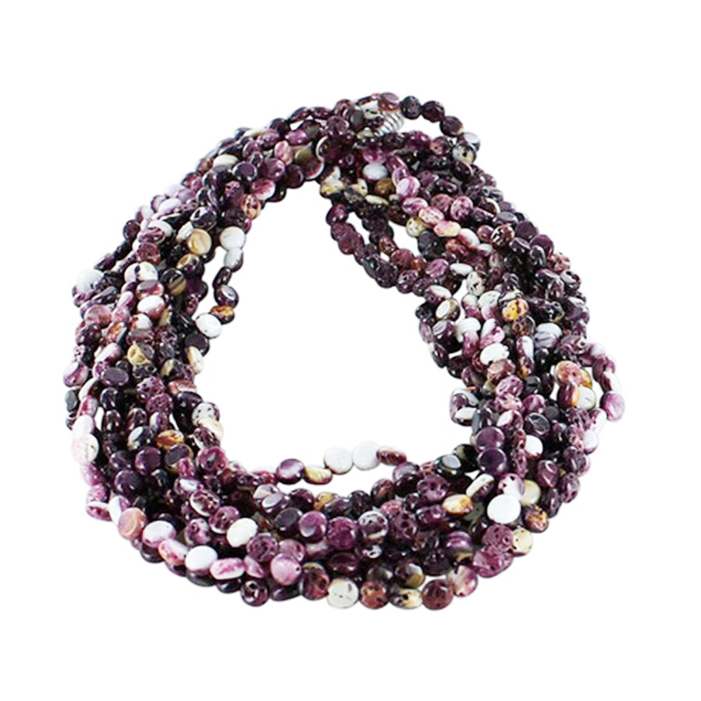 PURPLE SPINY OYSTER Beads Coin Shape 6mm 16""