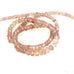 "AAA Oregon Sunstone Faceted Rondelle Beads 18"" Pink Champagne 3.5-5.7mm"