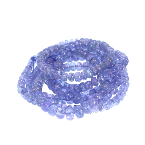 AAA TANZANITE BEADS RONDELLES 4 to 6.8mm 17""