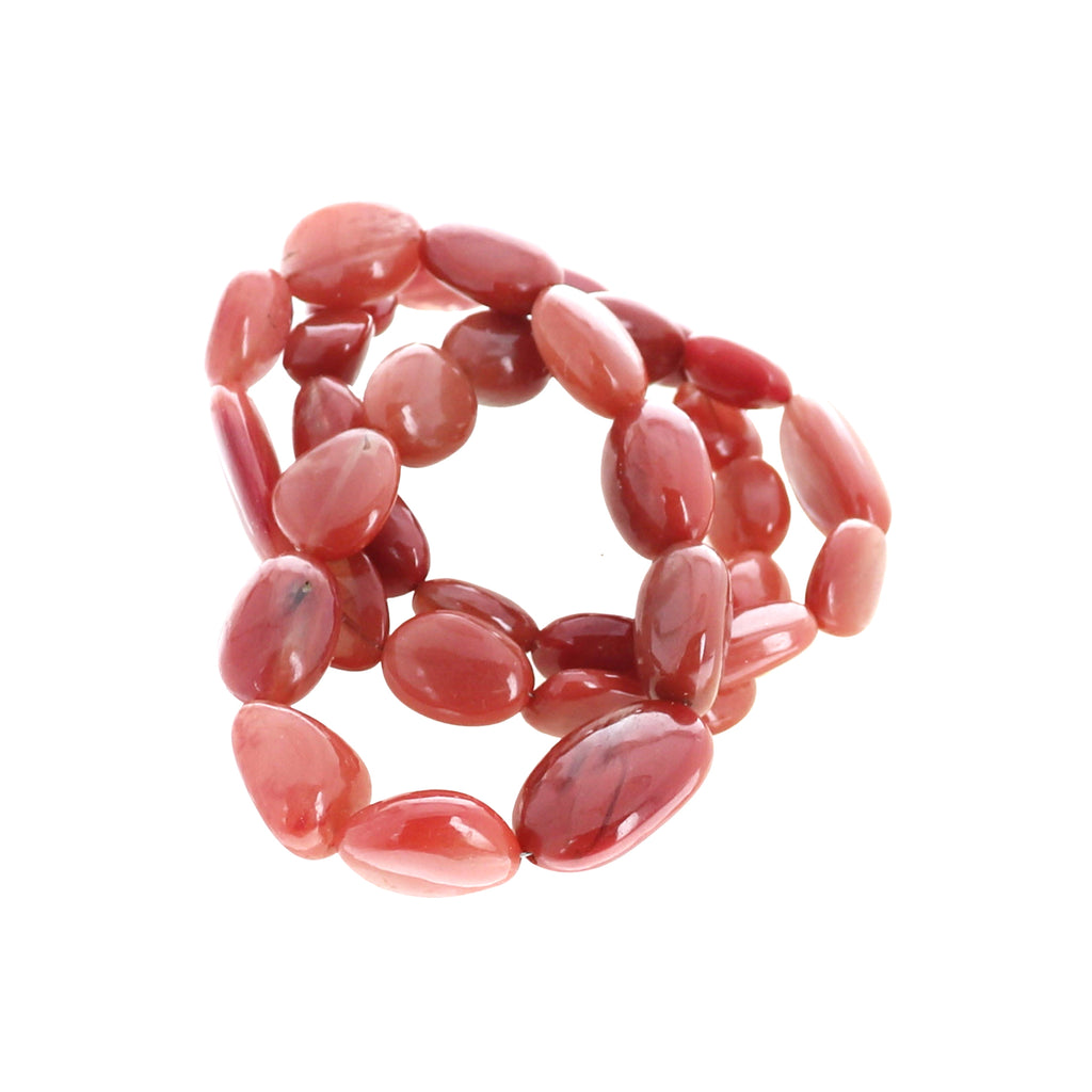 ANDESINE BEADS Oval Shape Rich Auburn Color 4-15x18mm 18""
