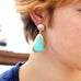 KINGMAN TURQUOISE Pure Sky Blue Earrings Teardrops Southwest