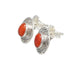 Red ITALIAN CORAL EARRINGS Sterling Style Posts 8x10mm