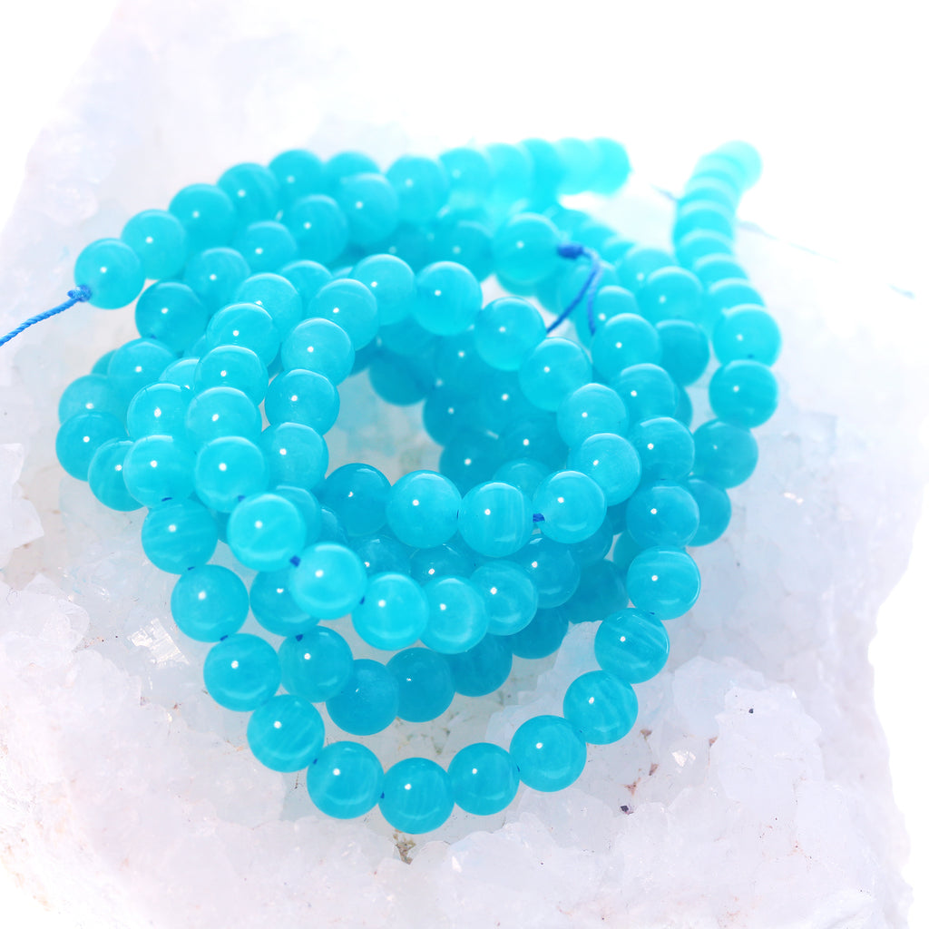 AAA Peruvian AMAZONITE BEADS Round 8.5mm