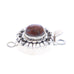 Pietersite Clasp Sterling Oval 8x10mm Moon Petal Style Choose Color
