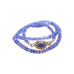 TANZANITE BEADS Graduated Rondelle Necklace 17""