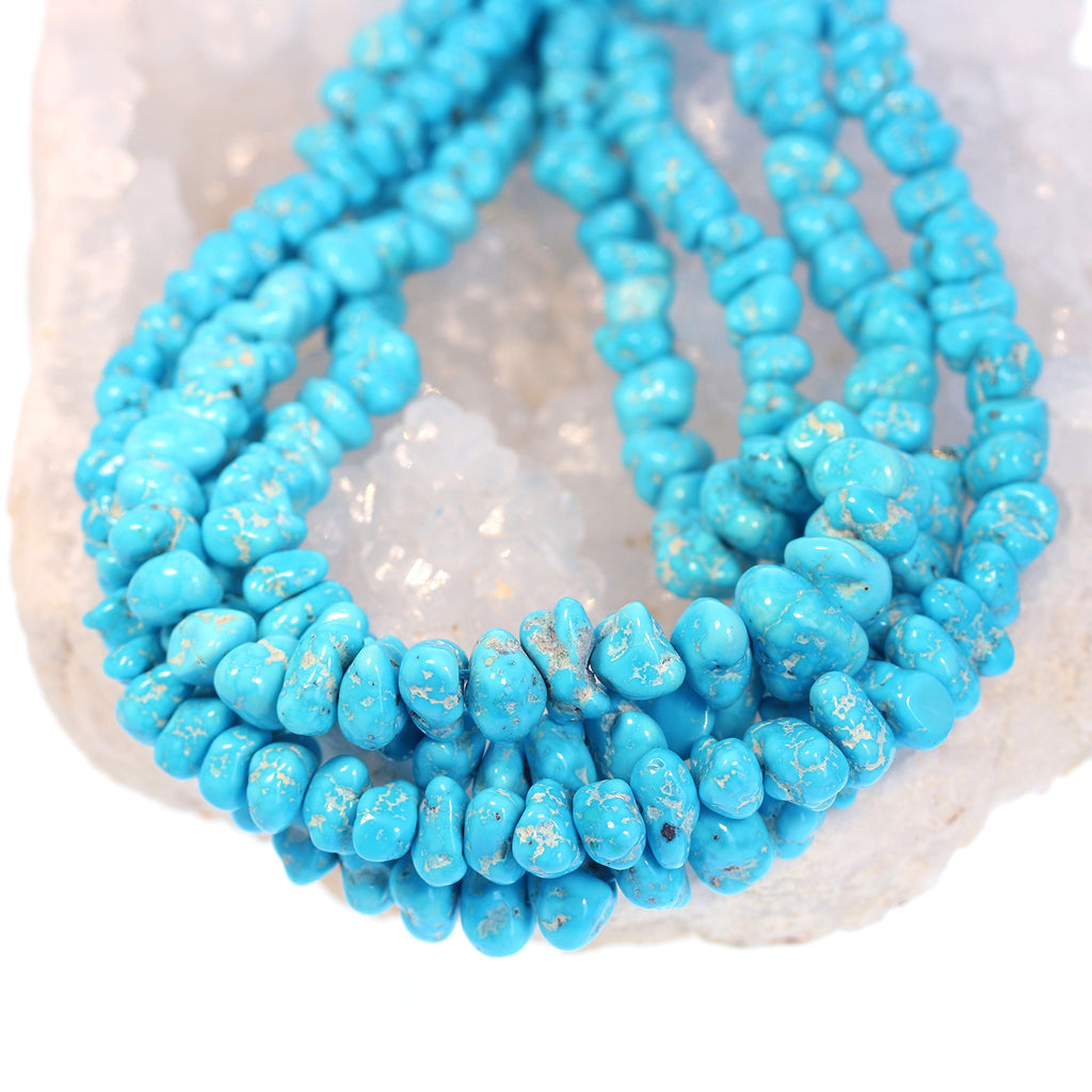 SLEEPING BEAUTY TURQUOISE Beads Large Nuggets 7-14mm