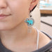 CARVED ZUNI BEAR Turquoise Earrings Sterling Southwest Morenci