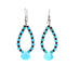 SLEEPING BEAUTY TURQUOISE PURPLE SPINY EARRINGS TEARDROP