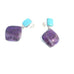 SUGILITE and Sleeping Beauty Turquoise Earrings Post Style