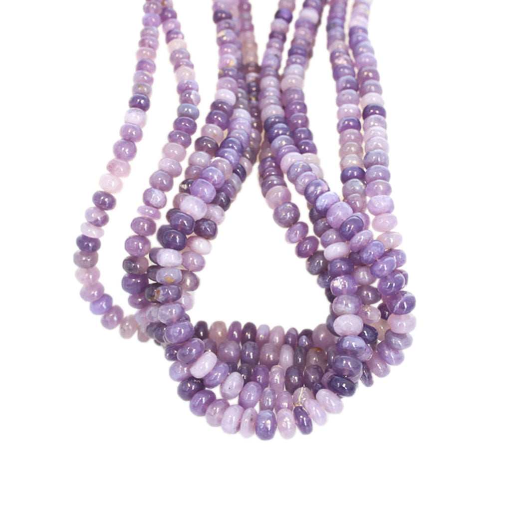 Indonesian Purple Lavender Chalcedony Beads Rondelles 4-8mm