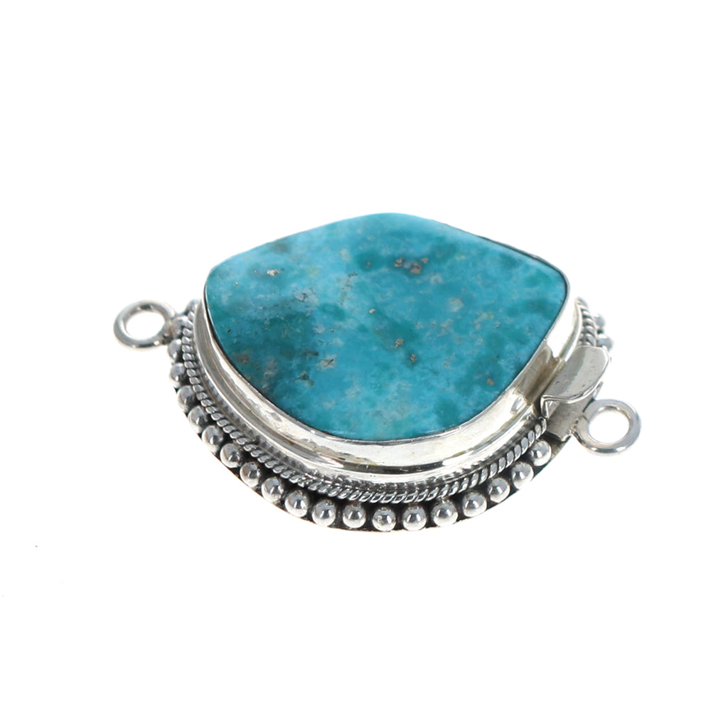 MEXICAN TURQUOISE CLASP Large Sterling Sky Blue