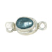 London Blue Topaz Faceted Sterling Oval Clasp 8x6mm Teal Blue