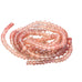 "AAA Oregon Sunstone Rondelle Beads 3.5-4.5mm 16"" Reds and Pinks"