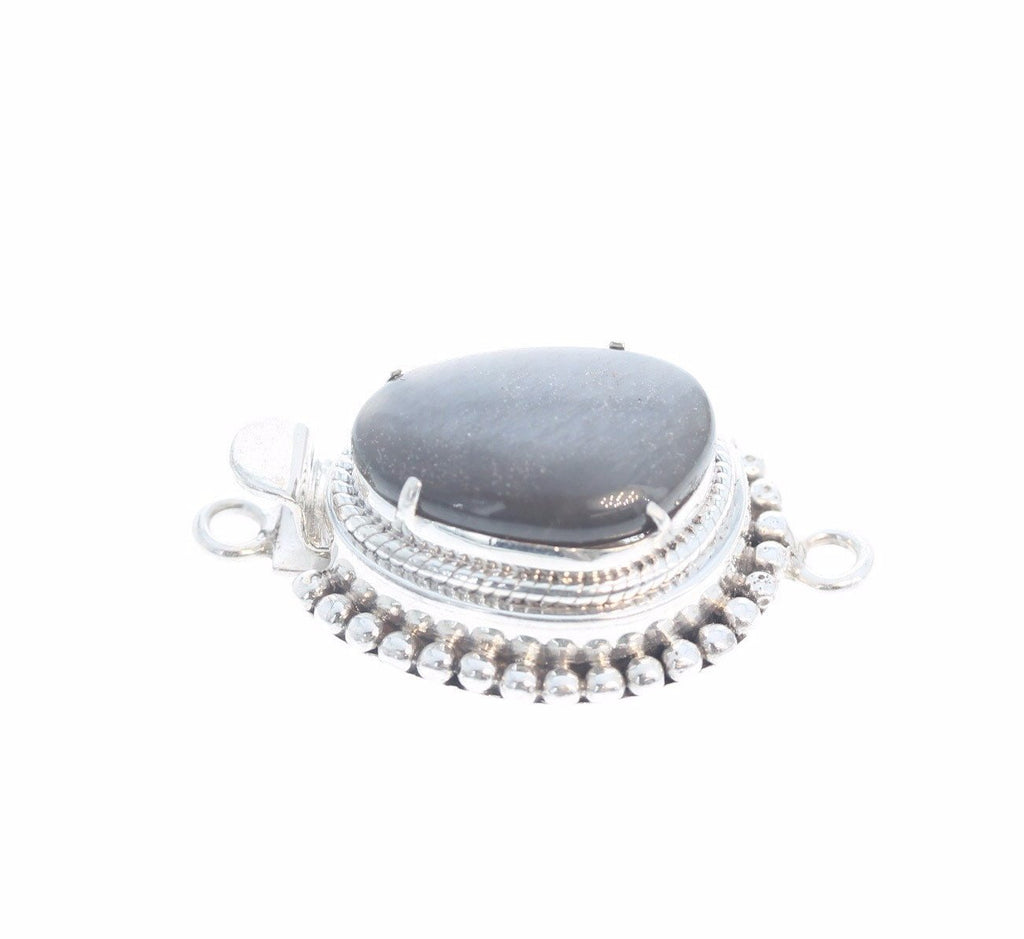GRAY MOONSTONE CLASP Sterling Large Free Form Sterling