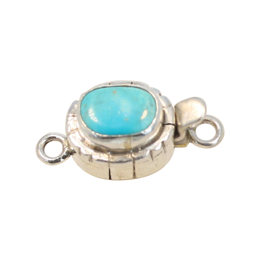 CASTLE DOME TURQUOISE Sterling Clasp Southwest Style