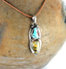 TURQUOISE and DENDRITIC CRYSTAL Earth and Sky Pendant