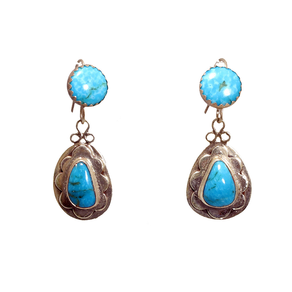 Pretty Sky BLUE KINGMAN TURQUOISE Earrings Southwest