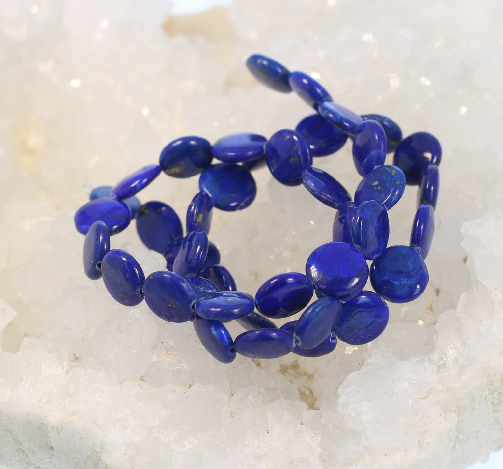 AAA LAPIS BEADS Coin Shape 10mm 16""