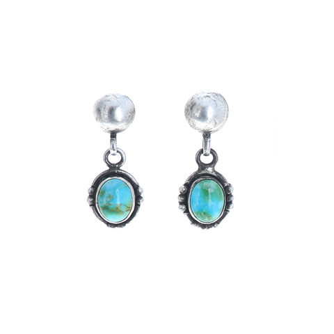 Sonoran Gold Turquoise Earrings Green Or Blue Sterling