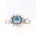 Swiss Blue Topaz Clasp Moon Lotus Design Sterling 5mm