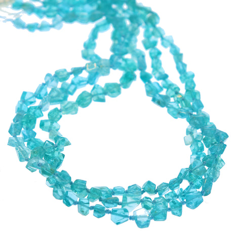 APATITE BEADS Faceted Nuggets Beads 6-8mm